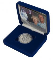 2007 Silver Proof £5 Diamond Wedding for sale